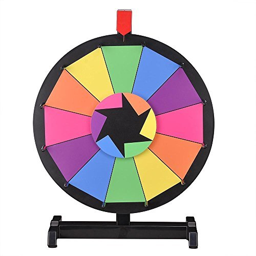 WinSpin Tabletop Editable Farbe Prize Wheel 12 Slot Spinning Game with Dry Erase Tradeshow Carnival by WinSpin