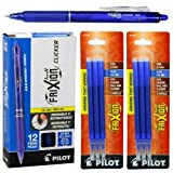 frixion pens 12 pack - Pilot FriXion Clicker Retractable Gel Ink Pens, Eraseable, Fine Point 0.7mm, Blue Ink, Pack of 12 with Bonus 2 Packs of Refills
