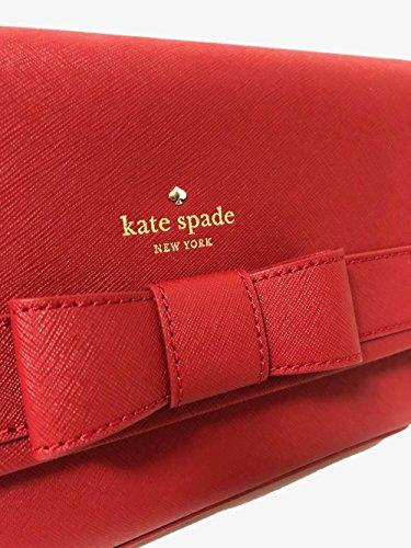 Kate Pillbox Spade Crossbody Park Leather Veronique Kirk Saffiano Red xH4xn0Zw