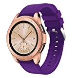 Digood Soft Silicone Watch Band Replacement Band Strap for Samsung Galaxy Watch 42mm (Purple)
