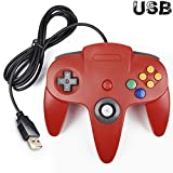 Cheap iNNEXT Classic Retro N64 Bit USB Wired Controller for Windows PC MAC Linux Raspberry Pi 3 (Red)
