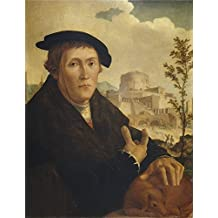The high quality polyster Canvas of oil painting 'Scorel Jan van A Humanist Mid 16 Century ' ,size: 30 x 39 inch / 76 x 99 cm ,this Reproductions Art Decorative Canvas Prints is fit for Kids Room decoration and Home gallery art and Gifts