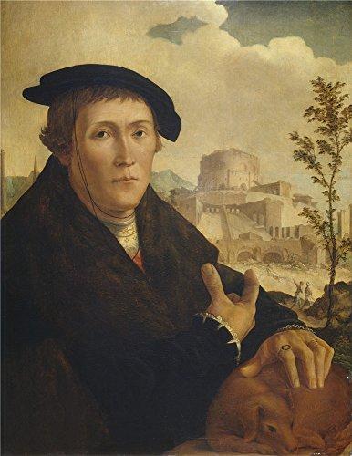 Canvas Prints Of Oil Painting ' Scorel Jan Van A Humanist Mid 16 Century '