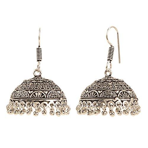 Efulgenz Boho Jewelry Indian Oxidized Silver Vintage Retro Ethnic Dangle Tribal Tibetan Gypsy Dangle Earrings for Girls Women by Efulgenz (Image #1)