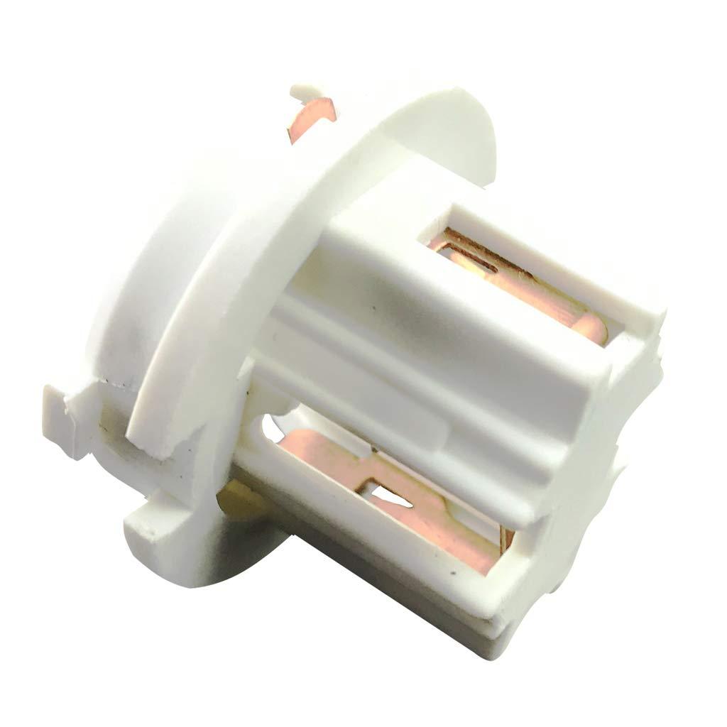 kesoto 2X Car Tail Brake Light Socket Holder Stop Lamp Holder for BMW X5 E70 2007 2008 2009 2010 White
