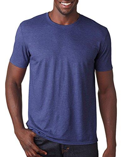 (Anvil Adult Tri-Blend T-Shirt, Hthr Blue, XX-Large)