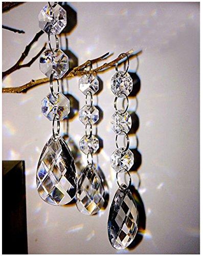 Hot 30PCS Acrylic Crystal Beads Garland Chandelier Hanging Wedding Party Celebration Decor (style 1)