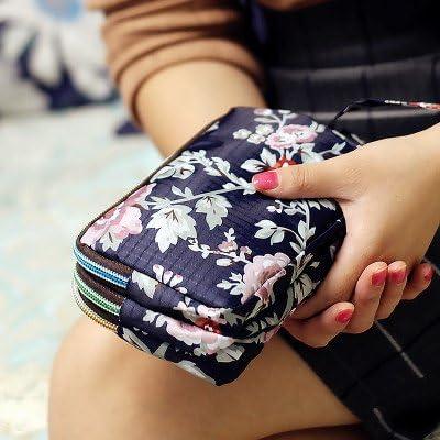 防水ナイロンパッチワークスリージッパー5.5インチ電話バッグフラワーバッグクラッチバッグレディース財布 YZUEYT