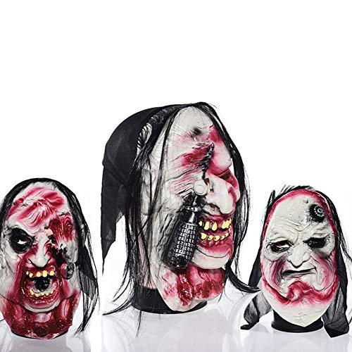 Mask 3Pcs Latex Halloween Creepy for Carnival Party,Horror Theme Bar,Transvestite Prom]()