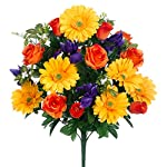 23-Silk-Gerbera-Daisy-Rose-Iris-Flower-Bush-Assorted-Pack-of-6
