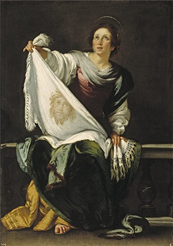 Saint Veronica Costume (The Polyster Canvas Of Oil Painting 'Strozzi Bernardo Saint Veronica 1620 25 ' ,size: 12 X 17 Inch / 30 X 43 Cm ,this Replica Art DecorativePrints On Canvas Is Fit For Powder Room Gallery Art And Home Decoration And Gifts)