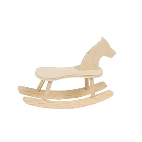 Schaukelpferd mit Sitz Holzspielzeug