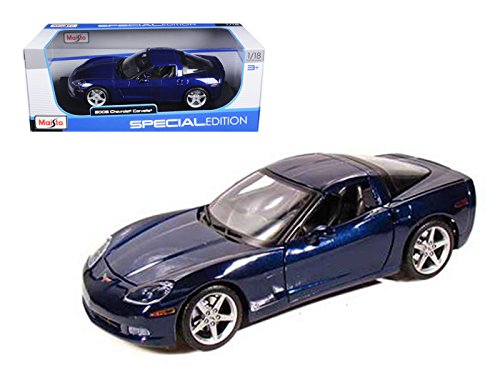 2005 Chevrolet Corvette C6 Coupe (StarSun Depot 2005 Chevrolet Corvette C6 Coupe Blue 1/18 Model Car by Maisto)