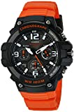 Casio Men's 'Heavy Duty Chronograph' Quartz Stainless Steel and Resin Casual Watch, Color Orange (Model: MCW100H-4AV)