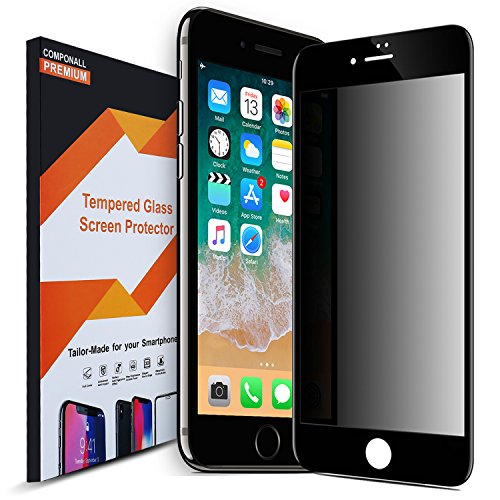 Privacy Screen Protector Compatible iPhone 8 iPhone 7 Full Coverage, COVELL Premium Tempered Glass Screen Protector Privacy -Black,1Pack