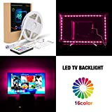 Lawn & Patio - Pangton Villa RGB Bias Lighting for 55 Inches - 5050 Led Light Strip 16 Color 5v USB TV Backlighting with Remote - Led Lights for Home Decoration