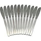 Argon Tableware Set Of 12 Stainless Steel Dinner Knives
