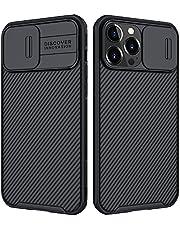 جراب هاتف Samsung Shield Pro من نيلكين متوافق مع هاتف iPhone 13 Pro Max، [حماية الكاميرا] مع غطاء كاميرا منزلق، حافظة واقية أنيقة ورفيعة متوافقة مع iPhone 13 Pro Max 6.7 بوصة أسود