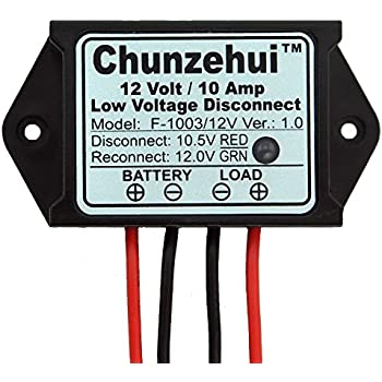 Chunzehui Low Voltage Disconnect Module LVD, 12V 10A, Protect/Prolong  Battery Life