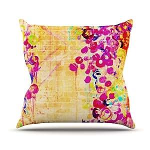 "KESS inhouse jd1019aop0318x 45,7""Ebi Emporium diseño de flores cojín manta de exterior, multicolor"