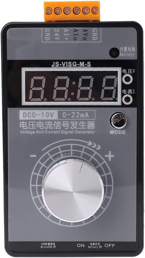 Vivitoch G/én/érateur de signal portable haute pr/écision 0-10 V 0-22 mA tension de courant r/églable simulateur analogique avec affichage LED