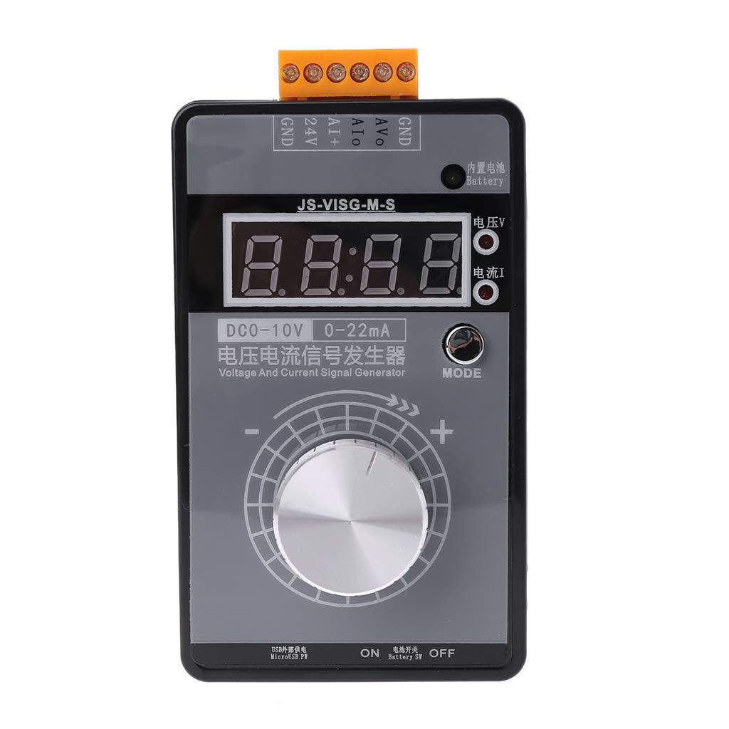 KunmniZ generador de se/ñal de mano ajustable voltaje de corriente anal/ógico simulador con pantalla LED 0-10 V 0-22 mA
