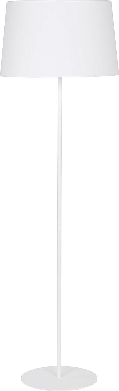 Pie Blanco Pantalla de Tela estructura de metal Monótono ...