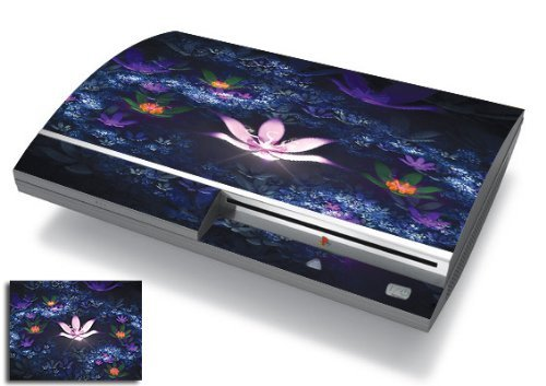 Bundle Monster Vinyl Skins Accessory For Sony Playstation PS3 Game Console - Cover Faceplate Protector Sticker Art Decal - Lotus Pond