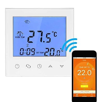 Agua Suelo Calefacción Termostato Con Pantalla Táctil Smart WiFi programables regulador de temperatura con pantalla LCD