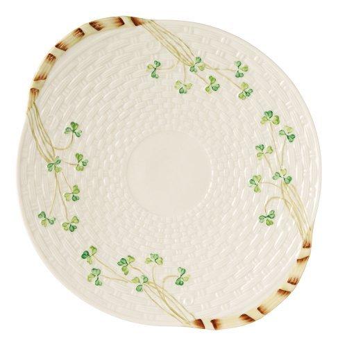 - Belleek Group 0008 Shamrock Bread Plate, 11.25-Inch, White by Belleek Group