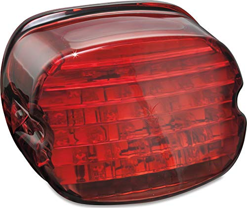 Kuryakyn 5437 Motorcycle Lighting: Low Profile LED Taillight Conversion Kit without License Plate Illumination Light for 2005-19 Harley-Davidson Motorcycles, Red Lens