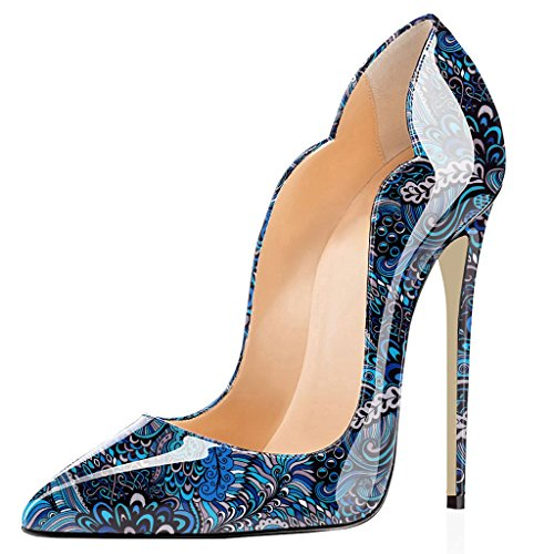 Spillo Donna Edefs Blue Donne Tacco Stiletto Multicolored Scarpe Sexy A Col qxZg7Pw4