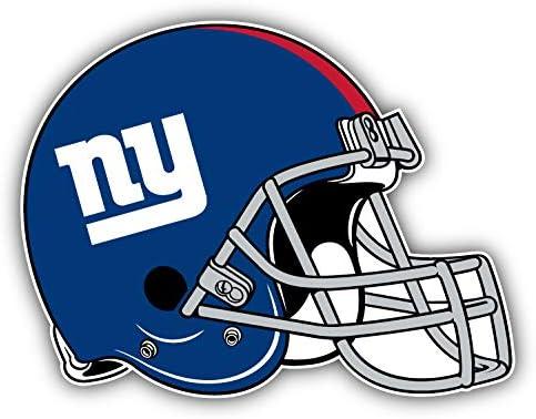 Giants Football New York Helmet Logo Decal 5 X 4