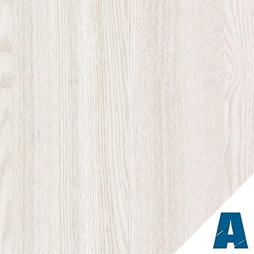 Artesive WD-001 Weißes Eiche Undurchsichtigen 60 cm x 2,5mt. - Haftklebefolie Selbstklebend Vinyl-Holz-Effekt Innen für Haus Dekoration, Türen und renovieren