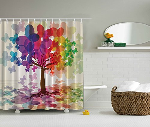 Shower Curtains Abstract Art Large Colorful Spring Season