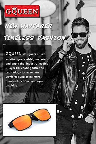 GQUEEN Mg polarisées Frame soleil Hommes Protection lunettes Al UV400 MS0 Retro de r17Ta8fr