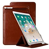TechCode iPad 5th Generation Case, iPad 6th Generation Case, Portable Ultra Slim Lightweight Flip Folio PU Leather Protective Stand Case Cover W/Pencil Holder for 2017/2018 iPad 9.7 inch (Red Brown)