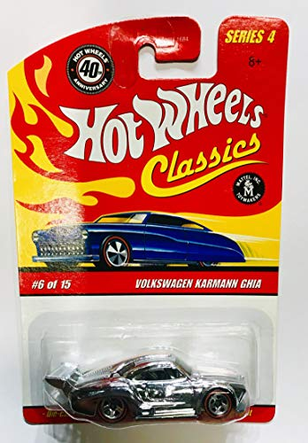 Hot Wheels Classic Series 4 Red Line 6 of 15 SILVER Volkswagen Karmann Ghia 1:64 Scale