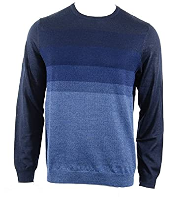 Calvin Klein Men's Merino Blend Ombre Crew Neck Sweater