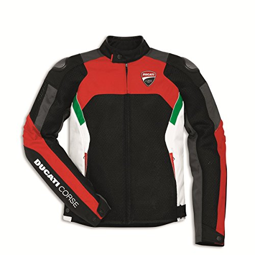 (Ducati Corse Perforated Textile Fabric Motorcycle Jacket (EU 50 - US 40) )