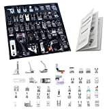 Professional Domestic 42 PCS Sewing Machine Sewing Foot Presser Foot Set with Manual for Brother, Singer, Babylock, Janome, Elna, Toyota, New Home, Simplicity and Kenmore Low Shank Sewing Machines