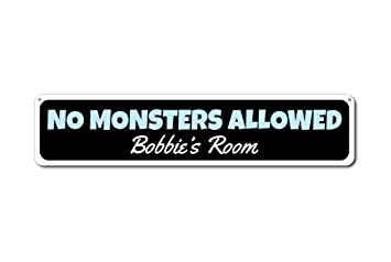 Amazon.com: Monster, Custom señal de prohibido Monstruos ...