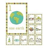 Nature Themed Counting Number Cards, Set of 10 Wall Cards, Nursery Art, Nursery Wall Art, Playroom, Kid's Art, Kid's Decor, Gender Neutral Nursery
