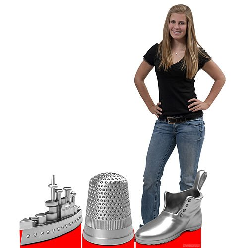 Giant Monopoly Game Pieces 2 ft. 10 in. (Shoe Thimble and ()
