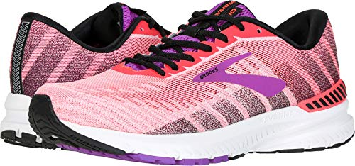 Brooks Women's Ravenna 10 Coral/Purple/Black 7 B US