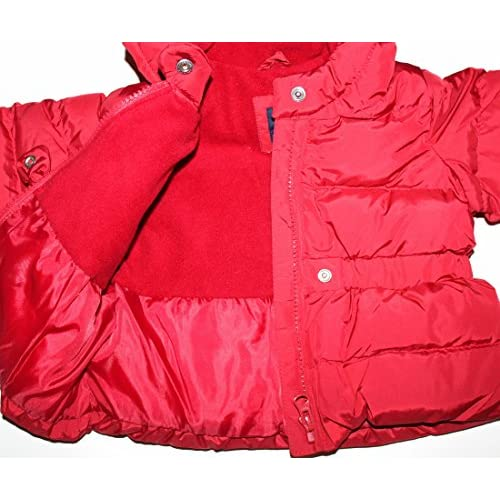 2f44894f8c36 baby Gap Infant Toddler Girl s Red Hooded Puffer Jacket Coat with ...