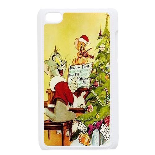 Customized Tom and Jerry Ipod Touch 4 Phone Case, Tom and Jerry Personalized Hard Back Cover Case for iPod Touch4 at Lzzcase