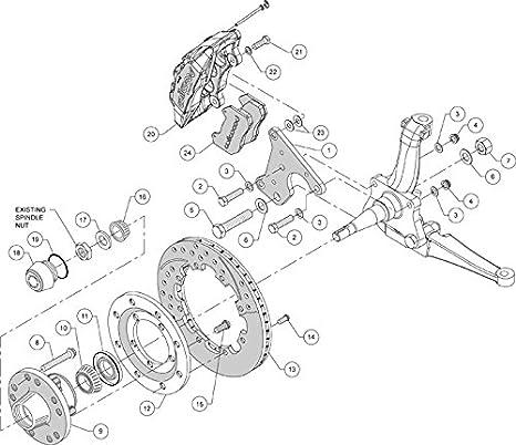 Amazon Com New Wilwood Full Disc Brake Kit 12 Rotors Black 6