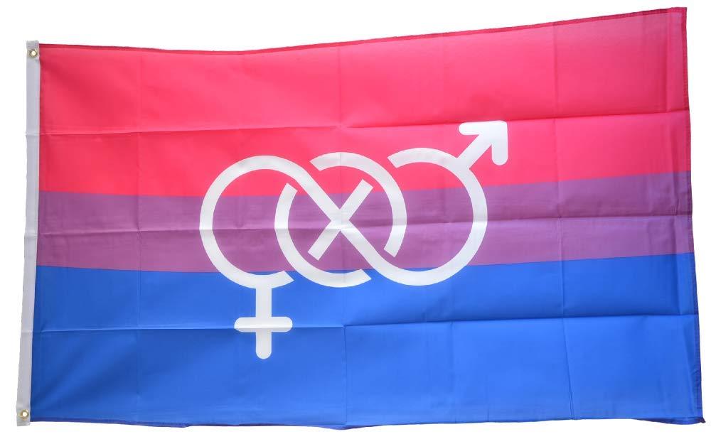Flaggenfritze/® Flagge//Fahne Bi Pride Symbol 90 x 150 cm