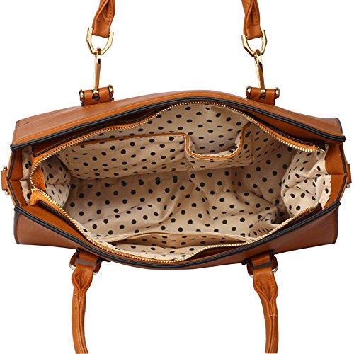 LEESUN LONDON - Bolsa mujer, color marrón, talla L E - Brown